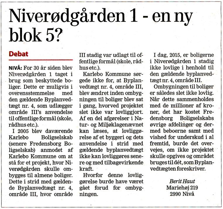Læserbrev fra Frederiksborg Amts Avis